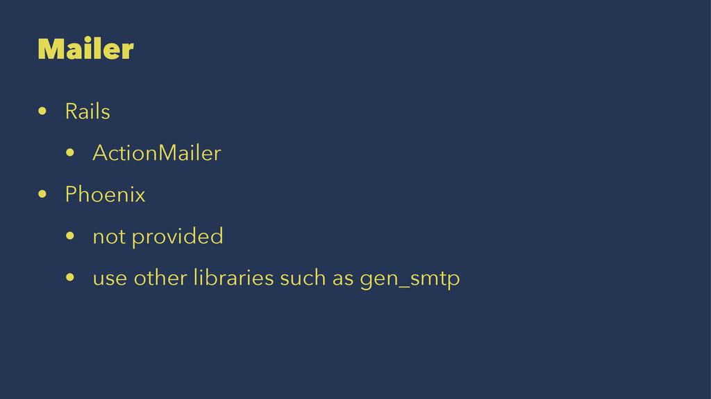 Mailer • Rails • ActionMailer • Phoenix • not p...