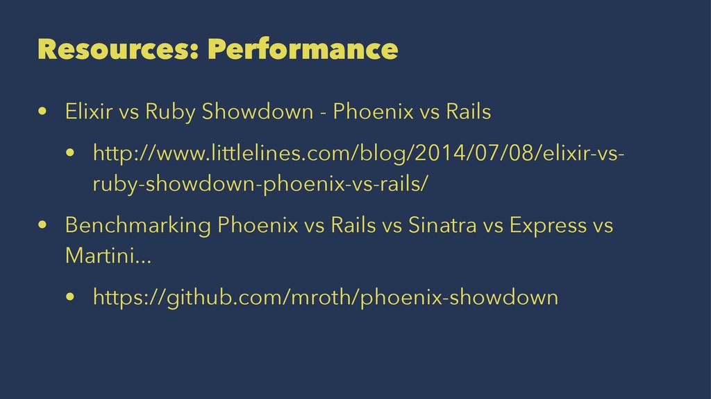 Resources: Performance • Elixir vs Ruby Showdow...