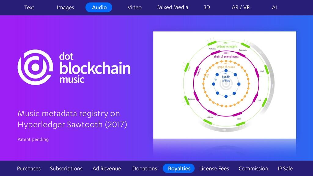music dot blockchain Music metadata registry on...