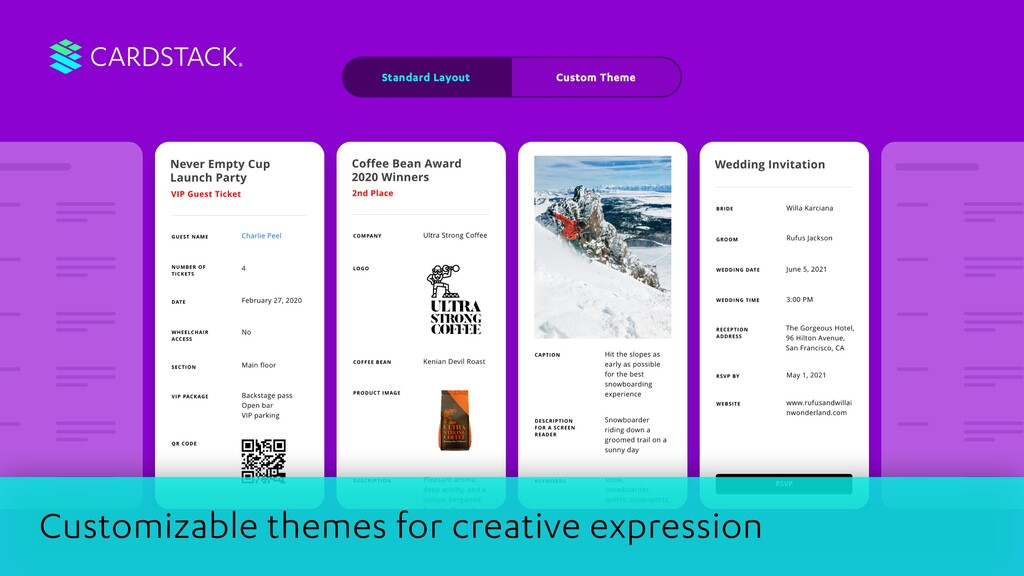 CARDSTACK Customizable themes for creative expr...