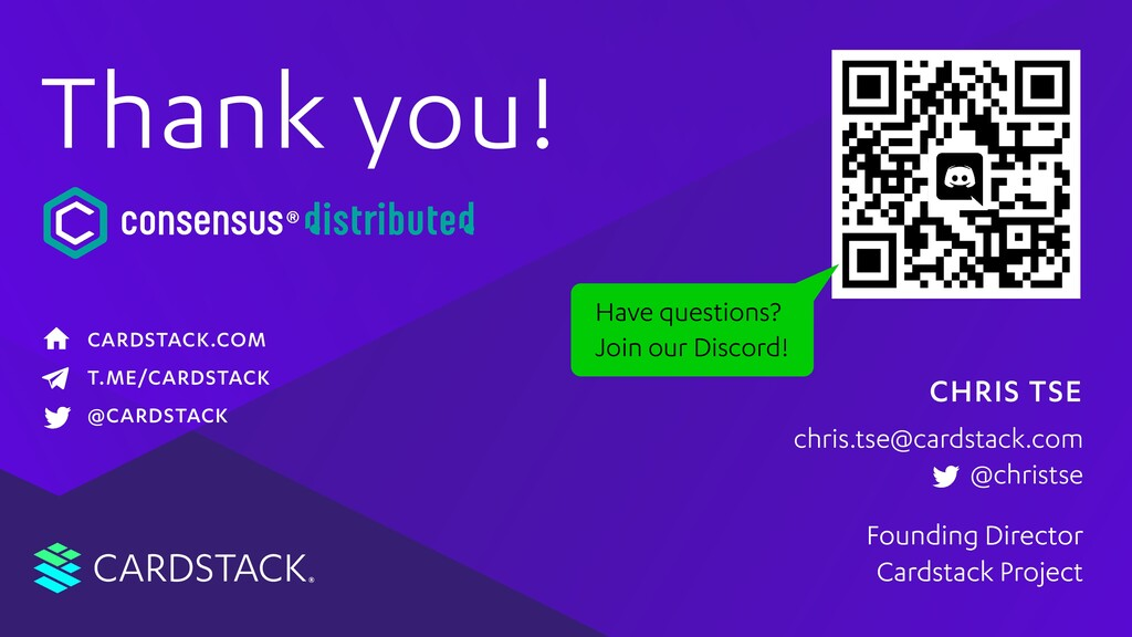 CARDSTACK Founding Director Cardstack Project c...
