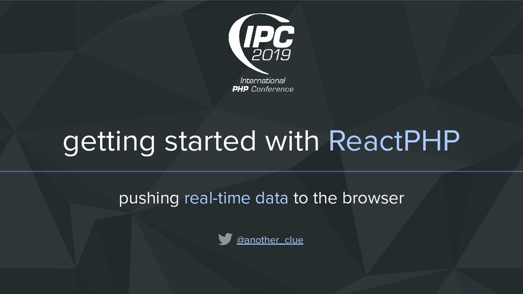 getting started with ReactPHP pushing real-time...