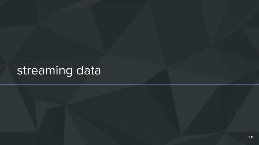 streaming data 101