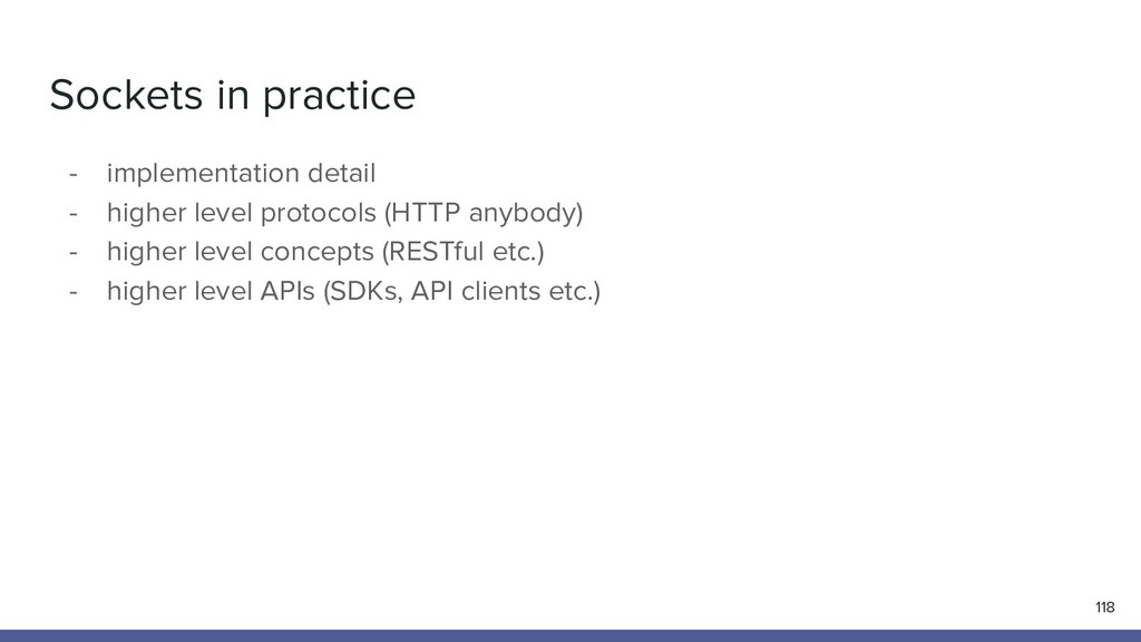 Sockets in practice - implementation detail - h...