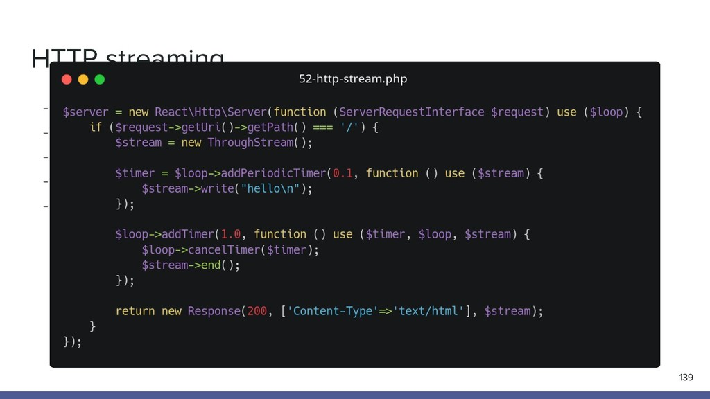 HTTP streaming 139 - HTTP request/response sema...