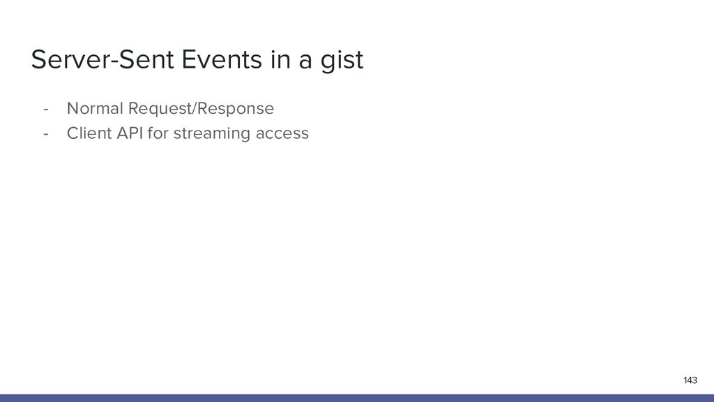 Server-Sent Events in a gist 143 - Normal Reque...
