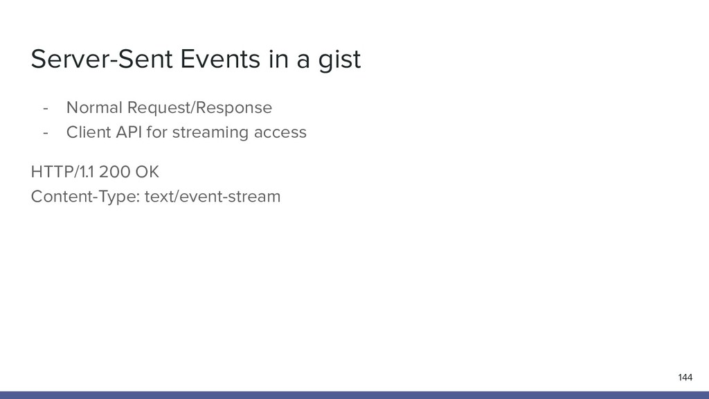 Server-Sent Events in a gist 144 - Normal Reque...