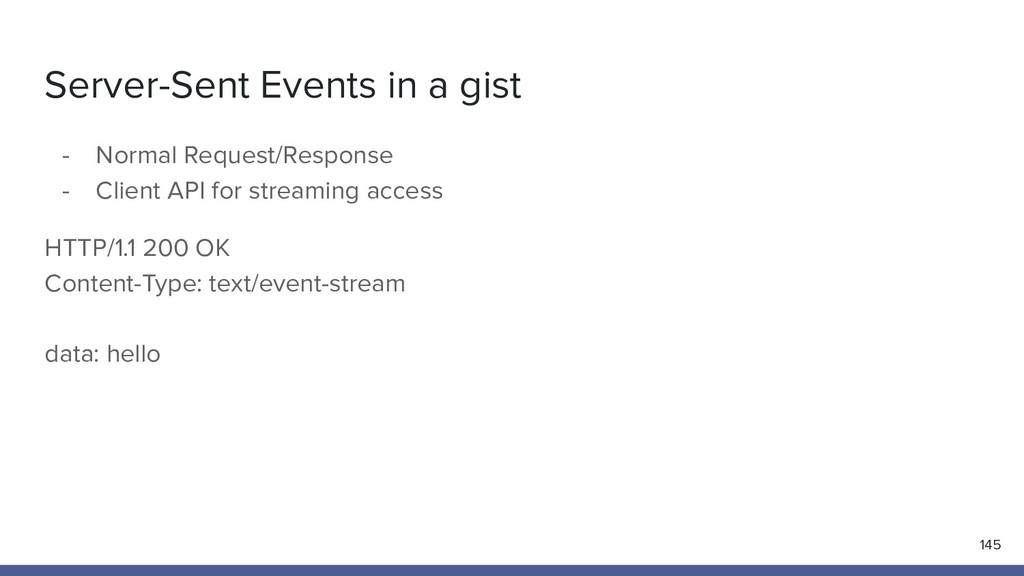 Server-Sent Events in a gist 145 - Normal Reque...