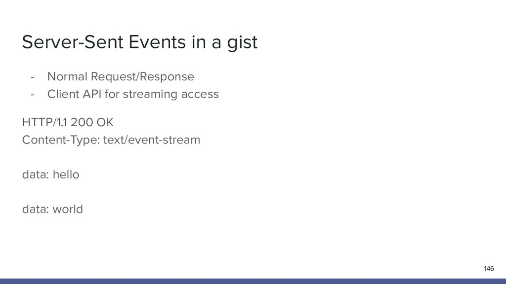 Server-Sent Events in a gist 146 - Normal Reque...
