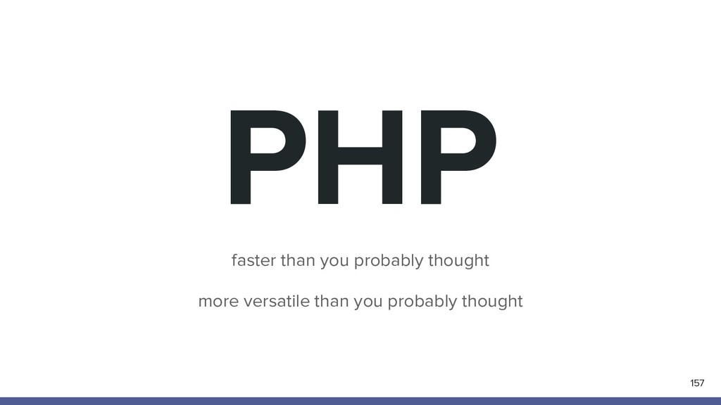 PHP faster than you probably thought more versa...