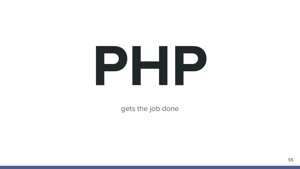 PHP 55 gets the job done