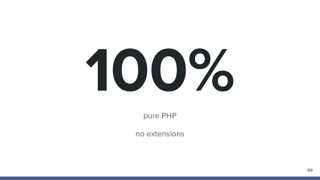100% pure PHP no extensions 69