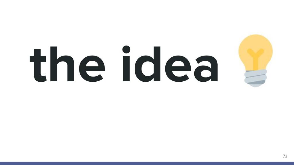 the idea 72