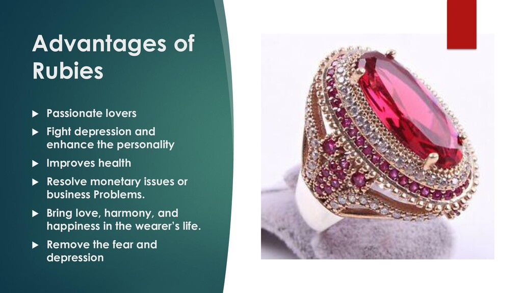Advantages of Rubies  Passionate lovers  Figh...