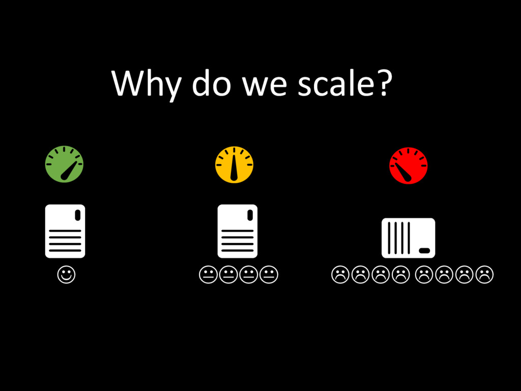    Why do we scale?