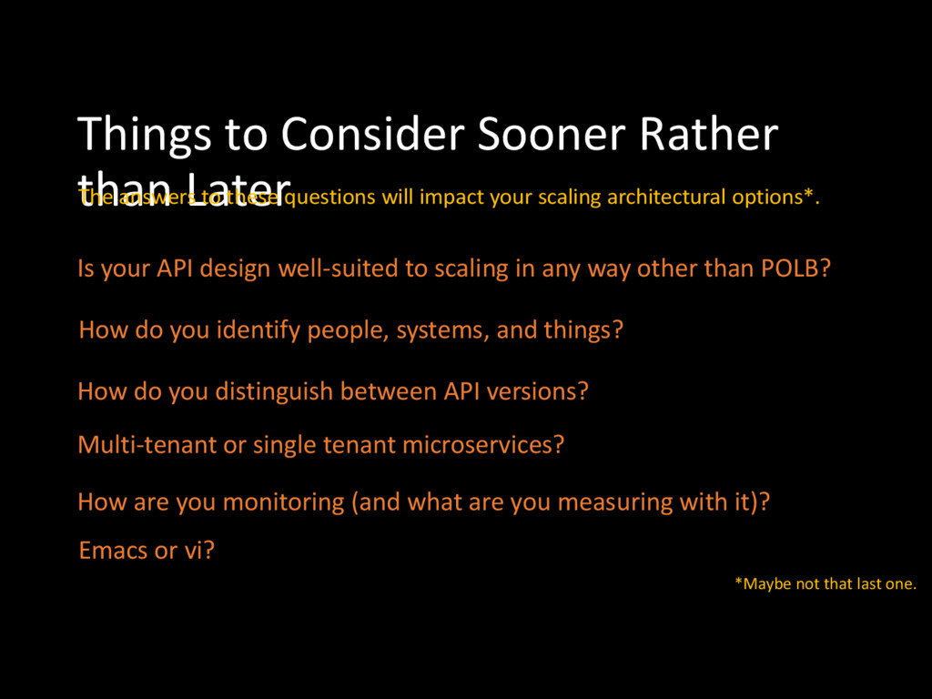 Things to Consider Sooner Rather than Later Is ...