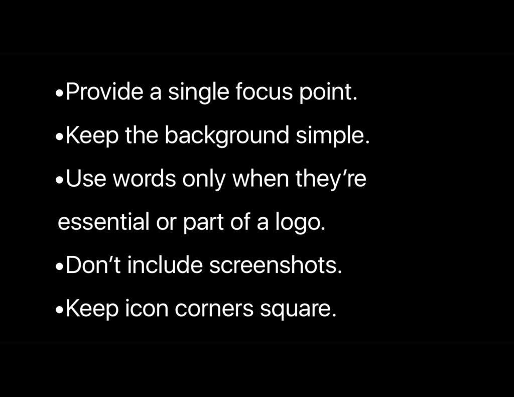 •Provide a single focus point. •Keep the backgr...