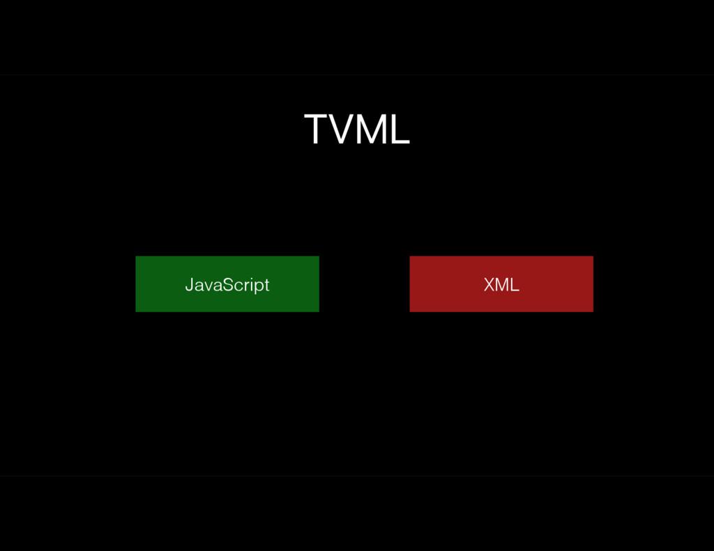 JavaScript TVML XML