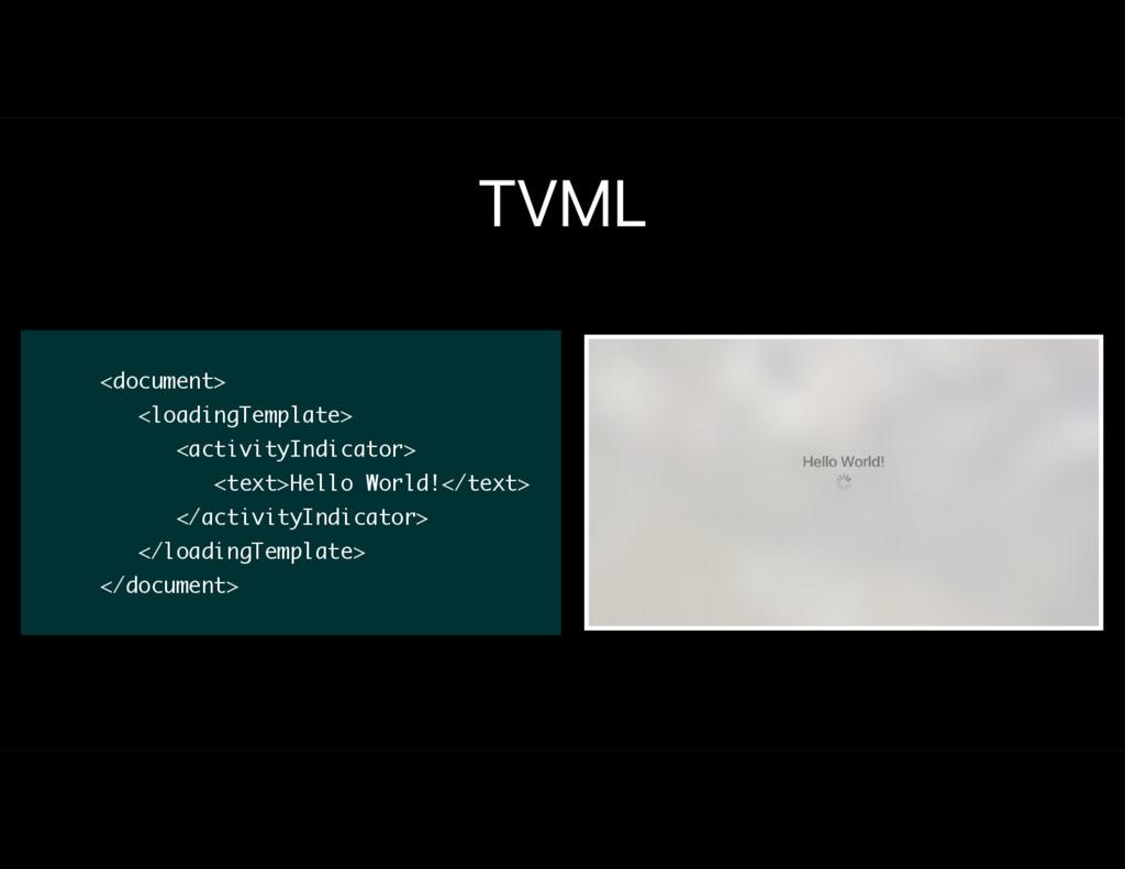 TVML <document> <loadingTemplate> <activityIndi...