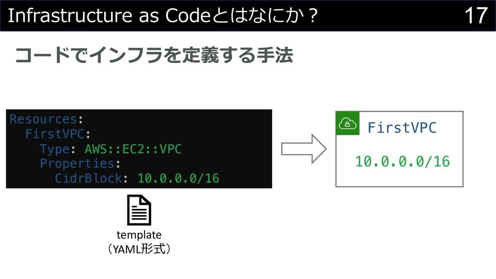 17 Infrastructure as Codeとはなにか︖ コードでインフラを定義する⼿法...