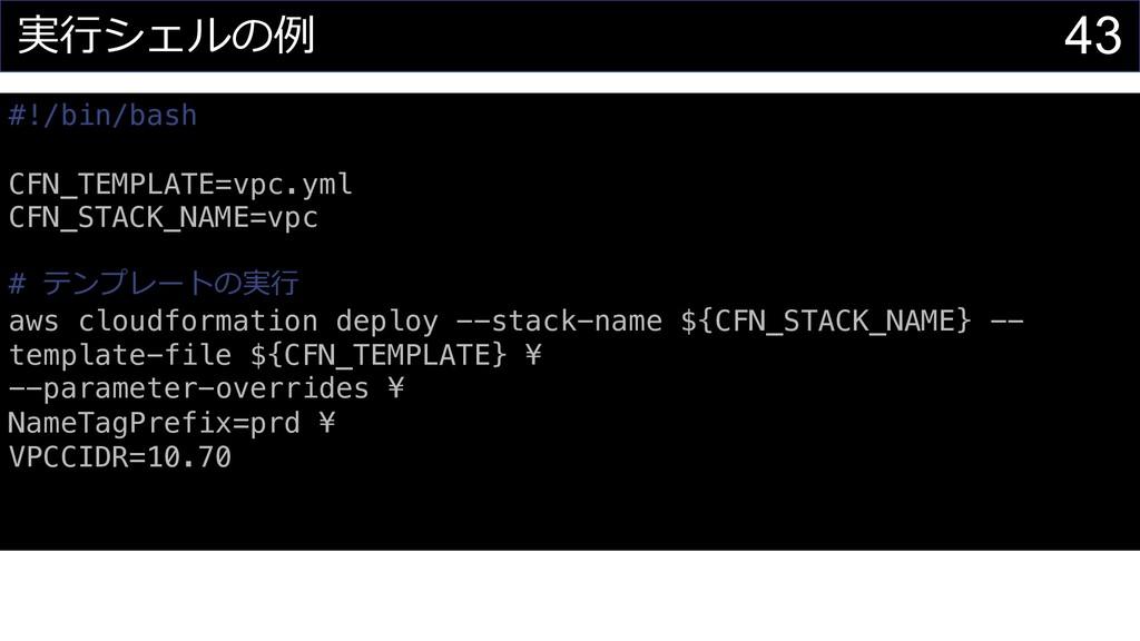 43 #!/bin/bash CFN_TEMPLATE=vpc.yml CFN_STACK_N...