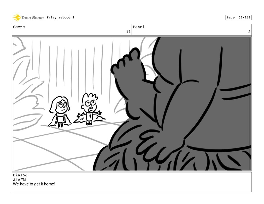 Scene 11 Panel 2 Dialog ALVEN We have to get it...