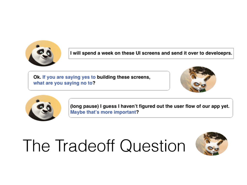 The Tradeoff Question