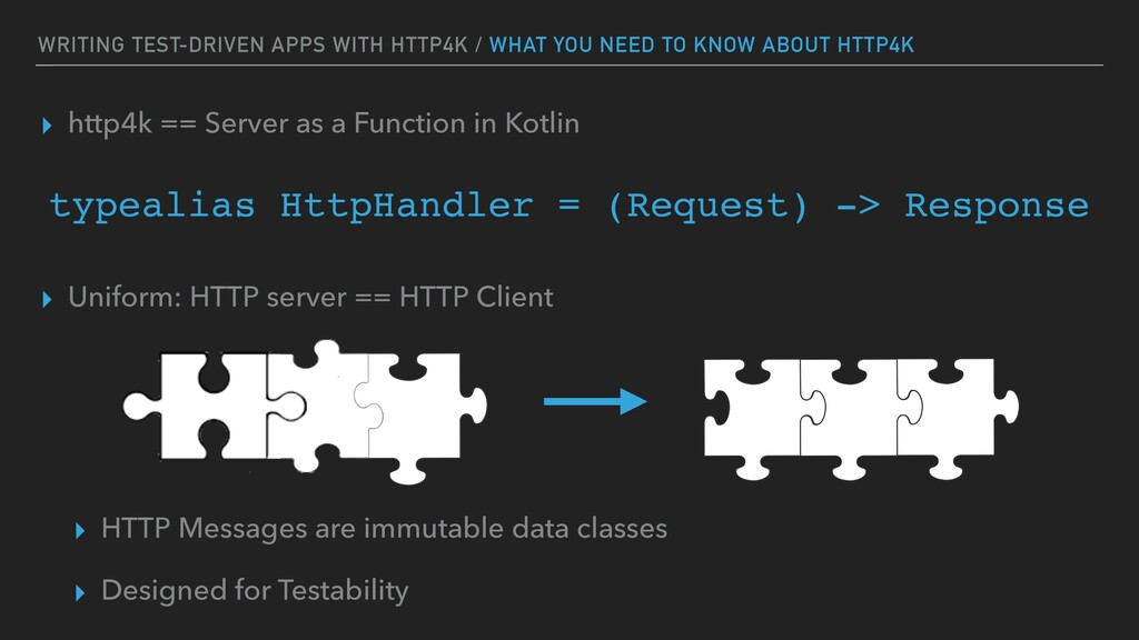 WRITING TEST-DRIVEN APPS WITH HTTP4K / WHAT YOU...