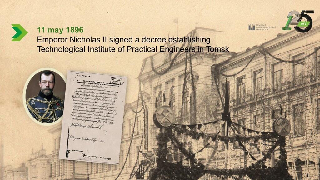 4 11 may 1896 Emperor Nicholas II signed a decr...