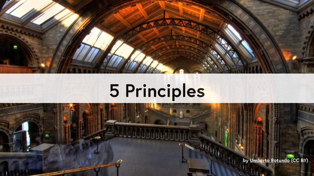 5 Principles by Umberto Rotundo (CC BY)