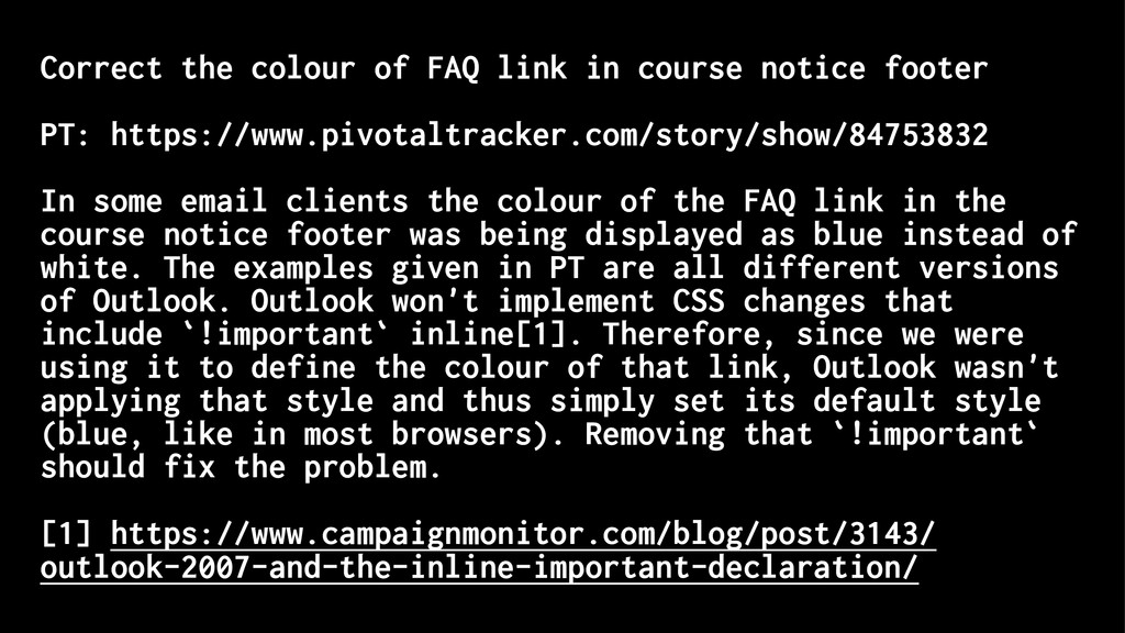 Correct the colour of FAQ link in course notice...