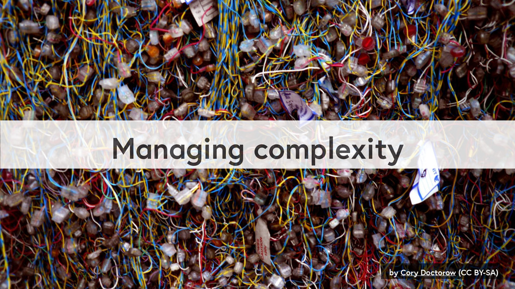 Managing complexity by Cory Doctorow (CC BY-SA)