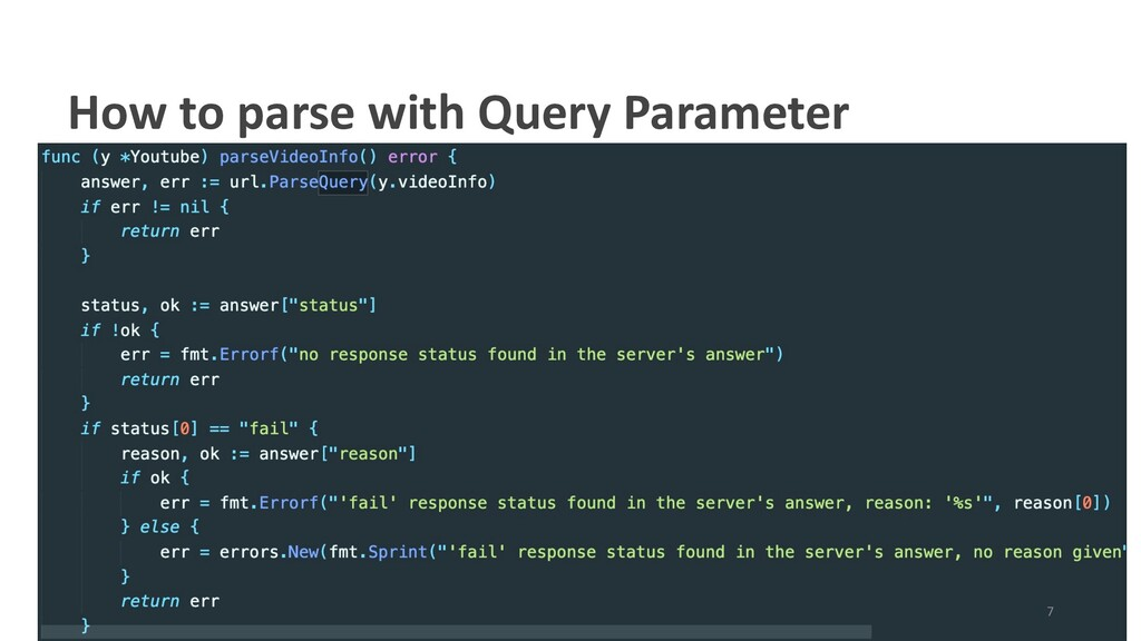 How to parse with Query Parameter 7