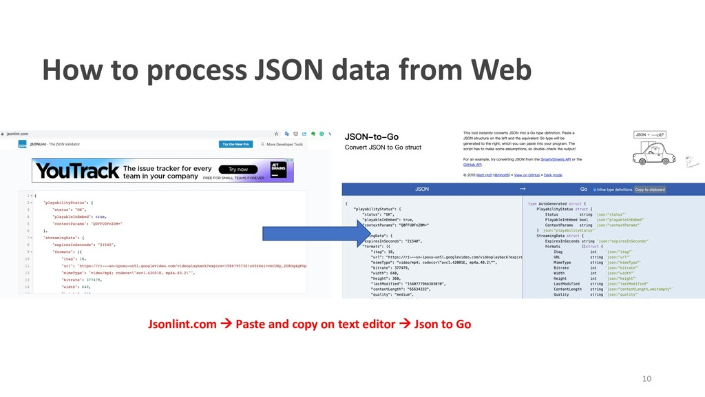 How to process JSON data from Web Jsonlint.com ...