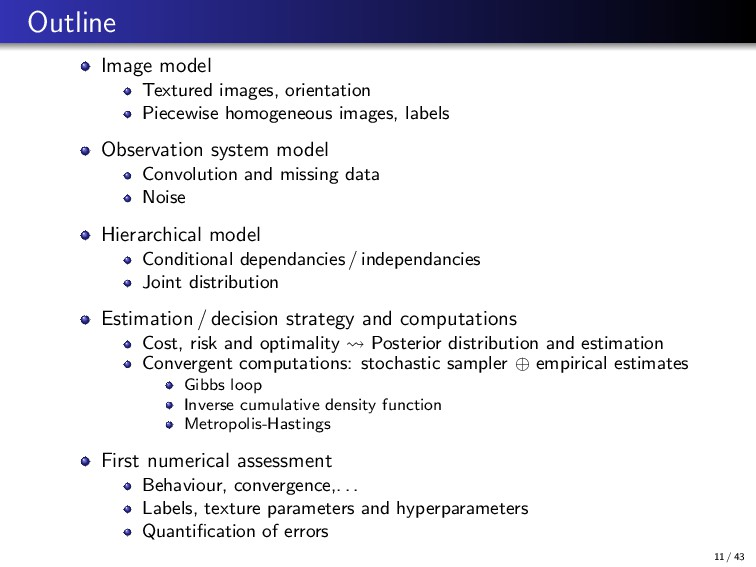 Outline Image model Textured images, orientatio...