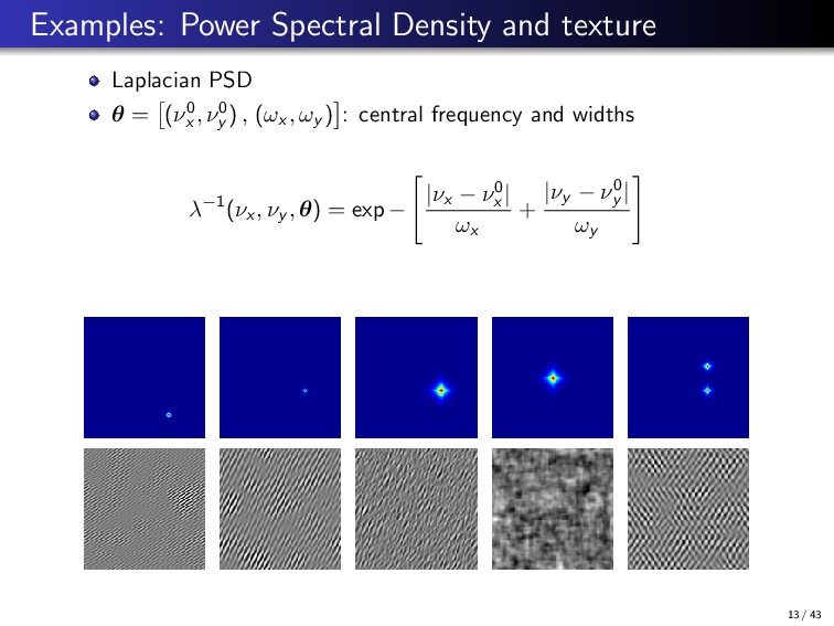 Examples: Power Spectral Density and texture La...