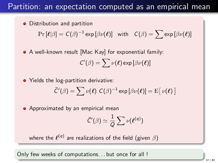 Partition: an expectation computed as an empiri...