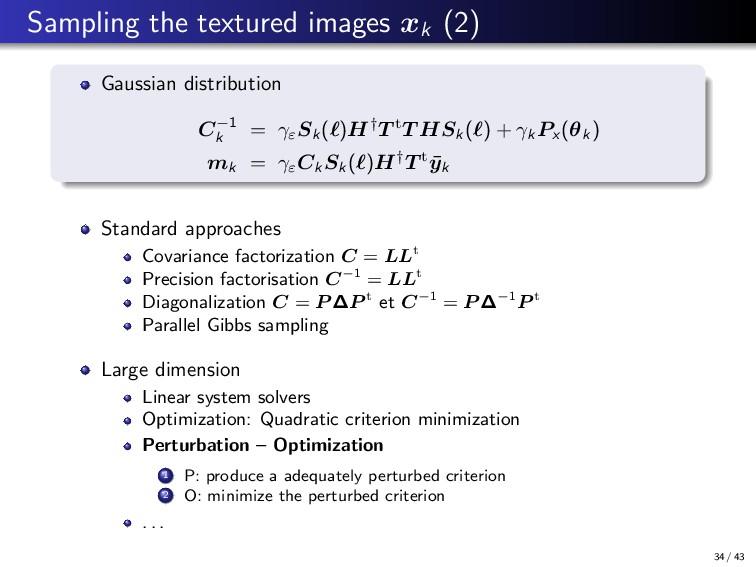Sampling the textured images xk (2) Gaussian di...