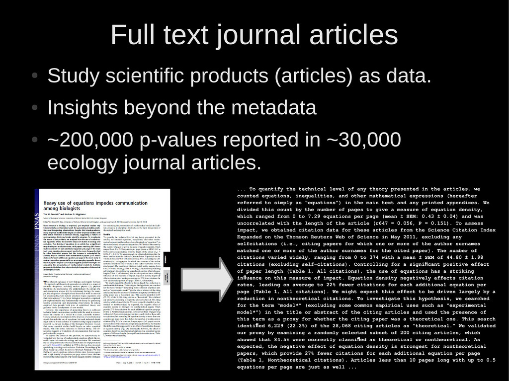 Full text journal articles ● Study scientific p...