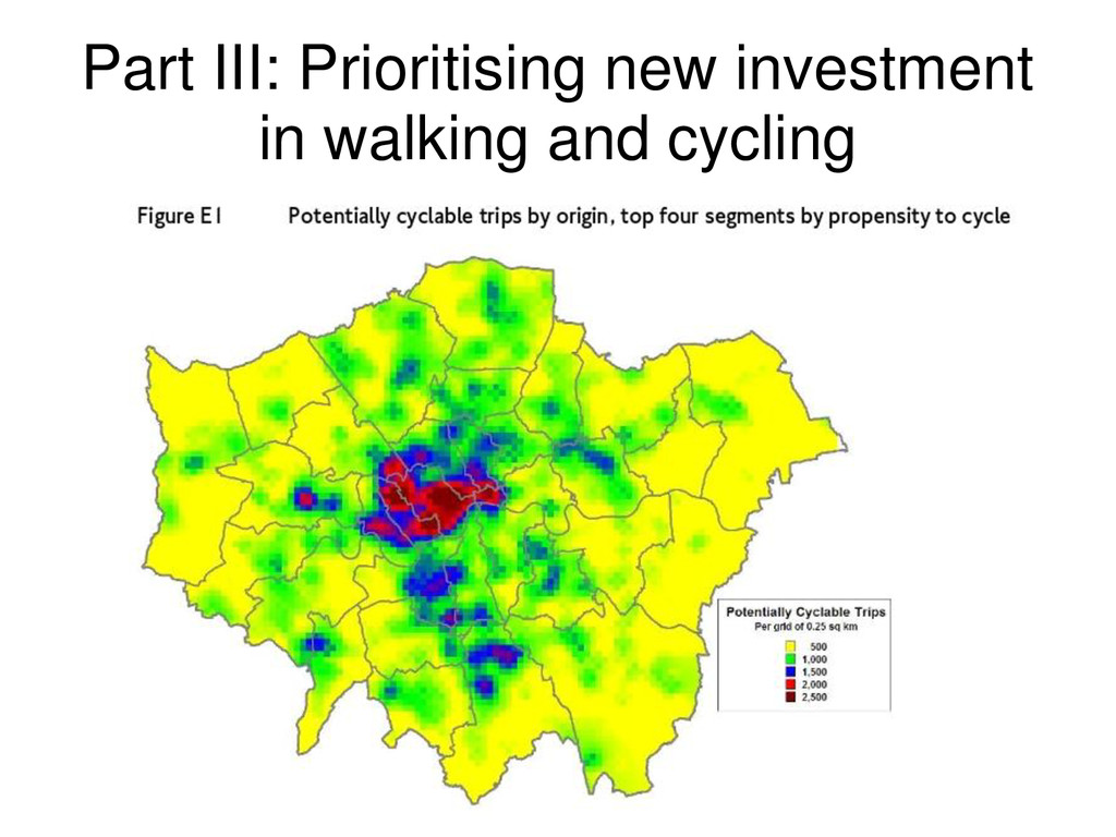 Part III: Prioritising new investment in walkin...
