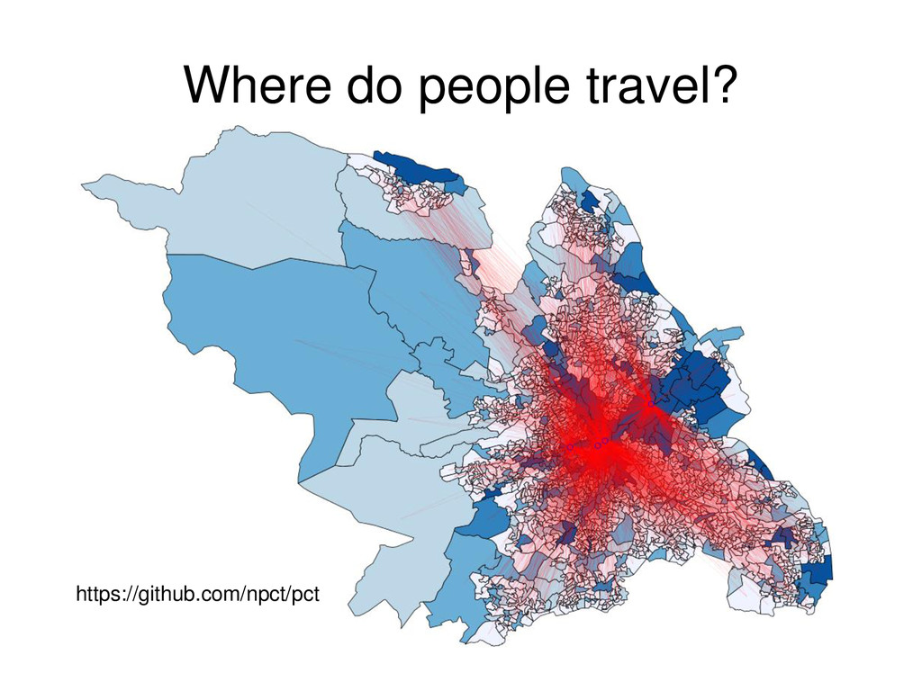 Where do people travel? https://github.com/npct...