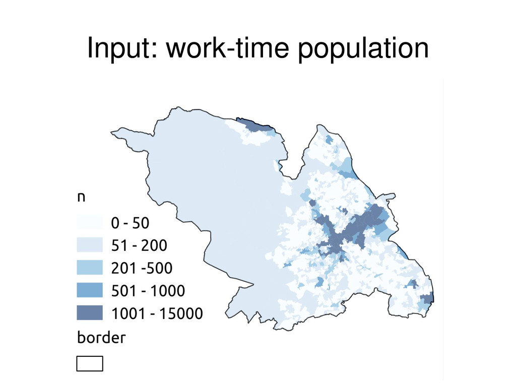 Input: work-time population