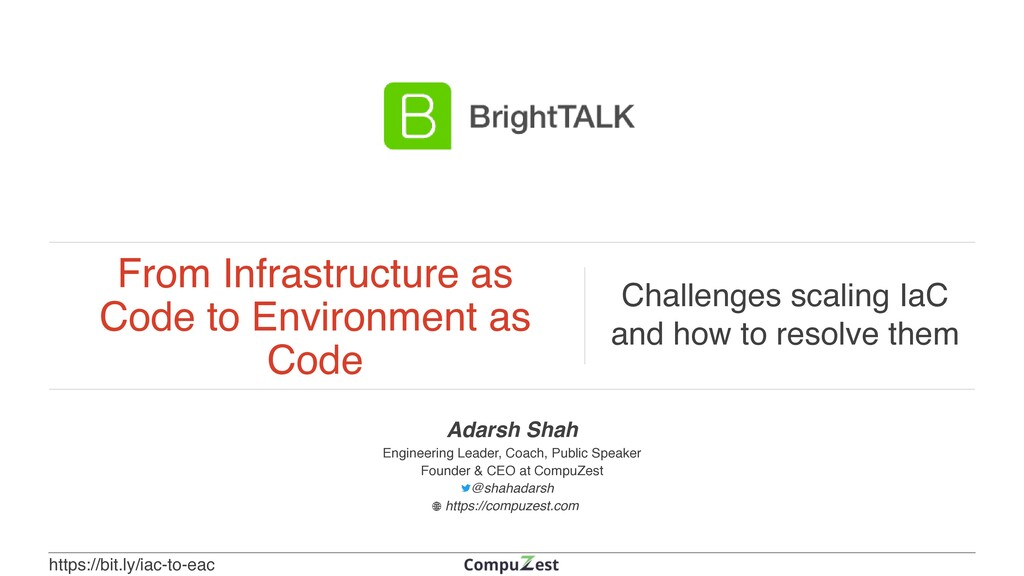 From Infrastructure as Code to Environment as C...