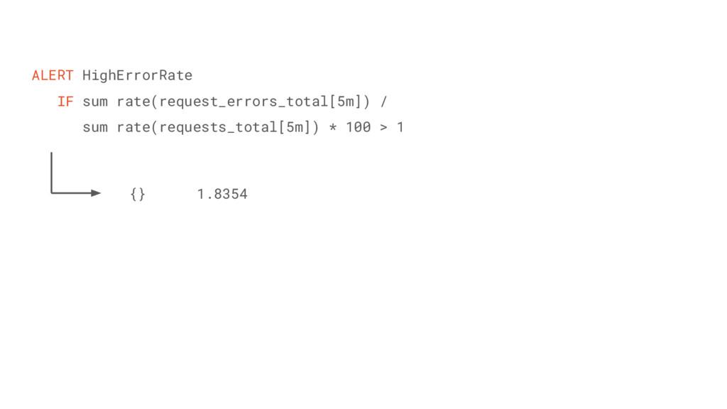 ALERT HighErrorRate IF sum rate(request_errors_...