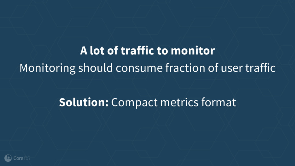 A lot of traffic to monitor Monitoring should c...