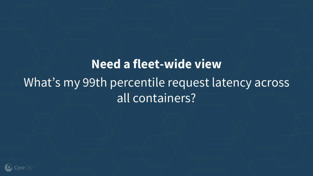 Need a fleet-wide view What's my 99th percentil...