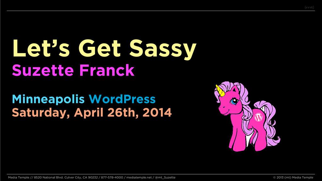 Let's Get Sassy Suzette Franck Minneapolis Word...