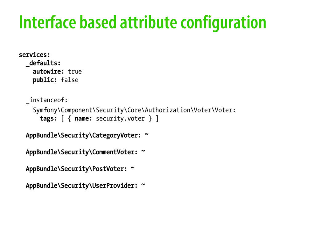 Interface based attribute configuration service...