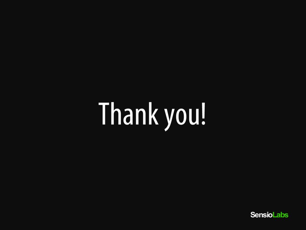 SensioLabs Thank you!