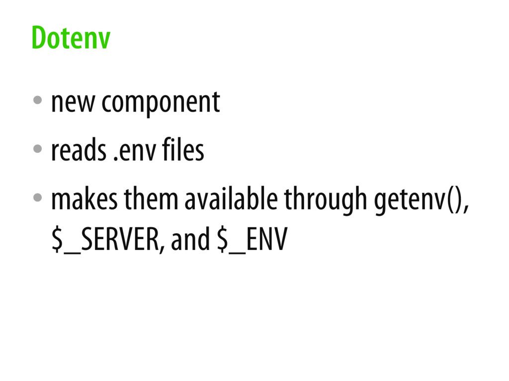 • new component • reads .env files • makes them...